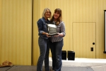 Jeanette Gilbreath awards Heidi Wright-Mead, C.P., with 2017 Craftsmanship Award