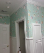 Soft Floral Wallpaper Wallcovering - Laundry Room